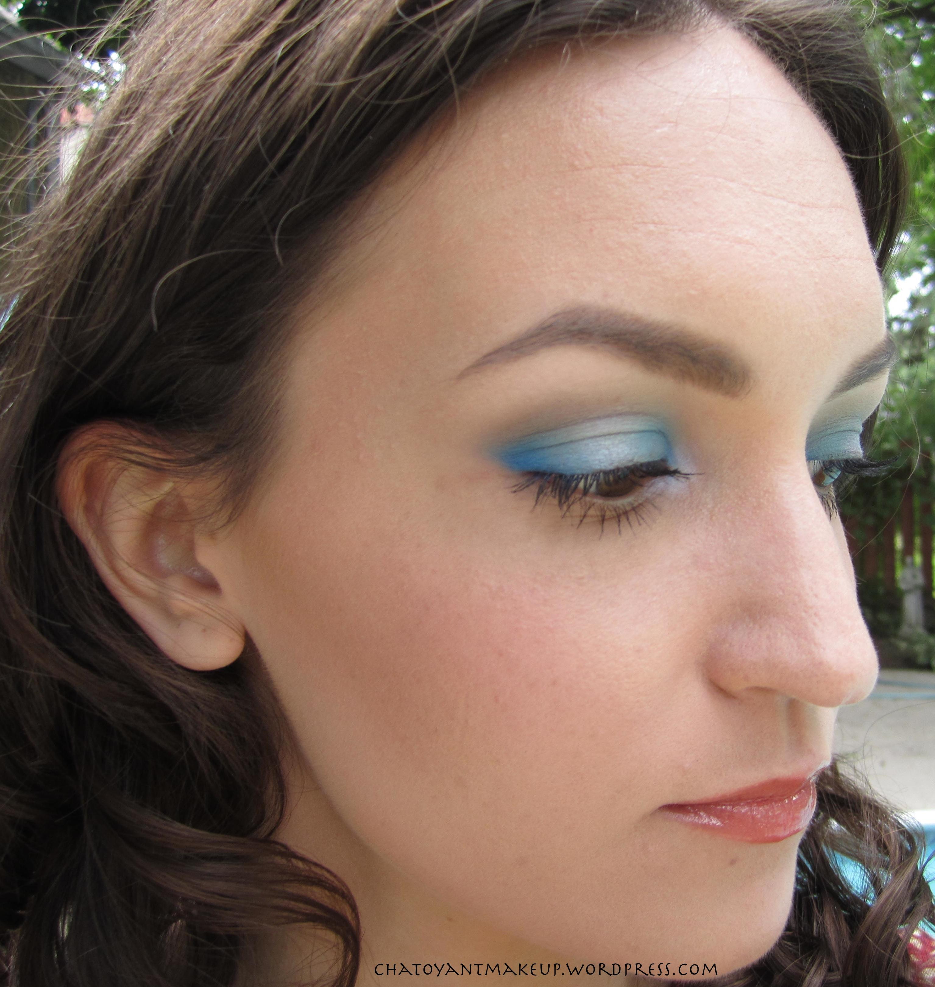 Ojo Tutorial Maquillaje - Ojos de cobre de color rosa con azul Eye Liner